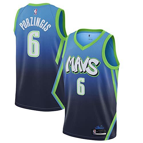 Kristaps Porzingis Dallas Mavericks #6 Official Youth 8-20 Blue City Edition Swingman Jersey (8)