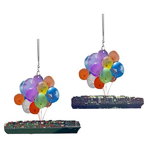 laoonl Perro Car Hanging Ornaments, Perro Colgante Colgante con Globo Colorido para Coche, Decoración Interior del Coche, Mochila, Globo Hanging Ornaments