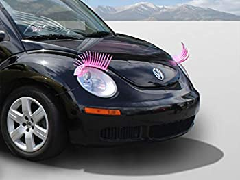 Carlashes for New Beetle  1998-2011  - Classic PINK Car Headlight Eyelashes