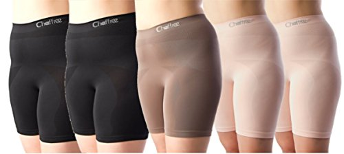 Chaffree Womens Seamless Breathable Wicking Gym Exercise Running Underwear 5Pack