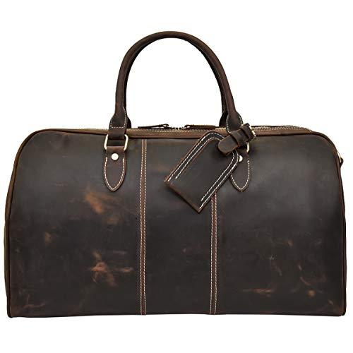 ボストンバッグ メンズ レザー 2WAY 大きめ 本革 ゴルフバッグ 旅行バッグ 大容量 トラベルバッグ 機内持ち込み レトロ 牛革 旅行鞄 50cm…