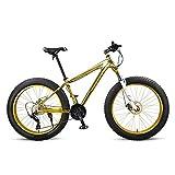 SOAR Bicicleta de montaña Bicicletas Fat Tire Bike MTB Camino de la Bicicleta Adulto Agua Motos de Nieve Bicicletas for Hombres Mujeres (Color : Gold)