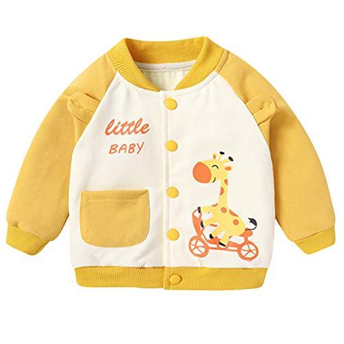 Famuka Baby Jacke Junge Mädchen Kleinkinder Übergangsjacke (Gelb, 18-24 Monate)