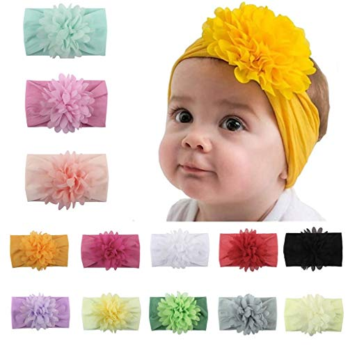 Baby Girl Nylon sHeadbands 10Pcs, IIS Newborn Infant Toddler Hairbands and Bows Child Hair Accessories (multicolored-02)