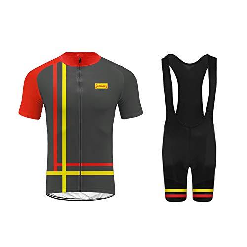 Uglyfrog Sommer Herren Cycling Jersey Männer Radfahren Trikots & Shirts Atmungsaktiv Mode Bunt+Trägerhosen Anzüge with Gel Pad Sport Bekleidung