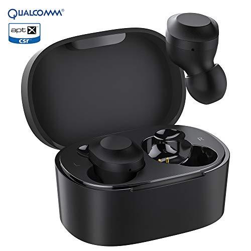 KUNGIX Bluetooth Kopfhörer in Ear, Qualcomm 3020 Kabellos Kopfhörer mit Premium Klangprofil Musik mit Intensivem Bass, Noise Cancelling Earbuds, Aptx Niedrige Latenz HD Anrufe, Bluetooth 5.0 Headset