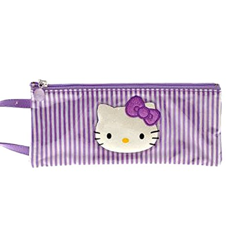 Hello Kitty by camomilla - Trousse plate avec poignee 10 x 24cm - Lolly - Violet