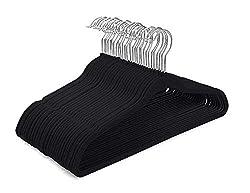 commercial Velvet hanger HOUSE DAY-60 pack-Non-slip felt hanger Space-saving velvet hanger … velvet hangers