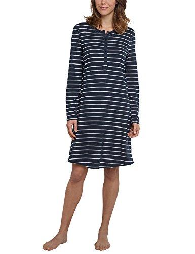 Schiesser Damen 1/1, 95cm Nachthemd, Blau (Nachtblau 804), 38 (Herstellergröße 038)