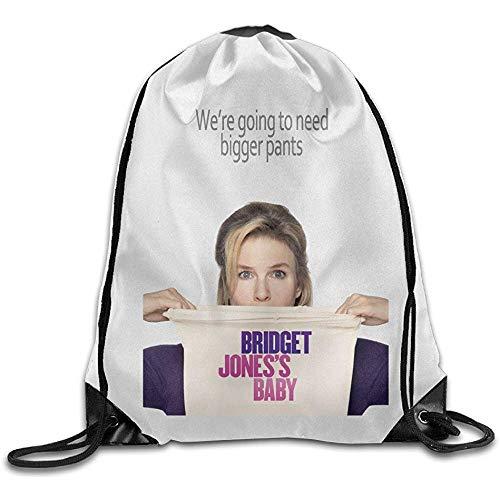 wallxxj Cinch Bags Bridget Jones 'S Baby Movie Poster Aufbewahrung Verwenden Sie String Cinch Taschen Casual Print Wandern Student Fashion Besonderes Geschenk Kordelzug Rucksack Kordelzug