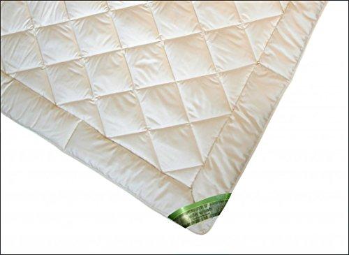 Garanta Bettdecke 135 x 200 cm - Leichte Silk Wash Sommer Seiden Decke 800 g - Bezug Baumwollperkal