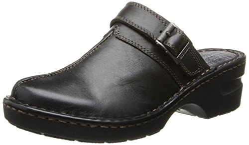 Eastland womens Mae clogs and mules shoes, Black, 9.5 US