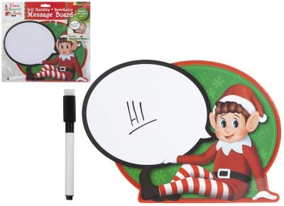 Elf Accessories Props Stock on the Shelf Ideas Kit Christmas Games Clothes Dolls - Elf Christmas Accessories (Elf Speech Bubble Wipe on Self Standing Sign with Sponge)