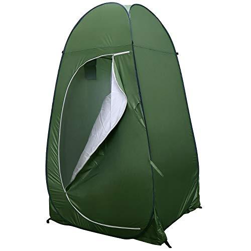 Coolty Portable Tienda de Baño de Camping, Pop-Up Tienda de Privacidad de Ducha para cambiarse al Aire Libre Vestir Pesca Baño Tiendas de Almacenamiento Portátil con Bolsa de Transporte