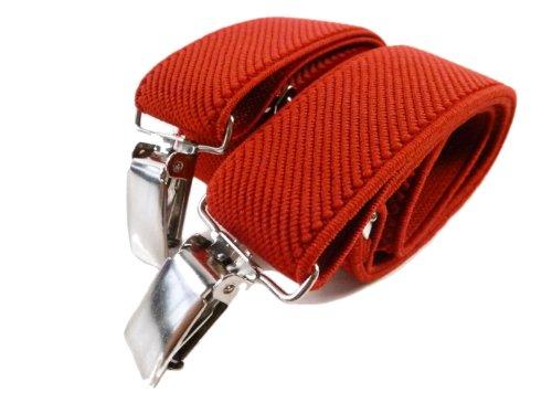 Olata Bretelle Elasticizzata per Bambini 5-12 Anni, Y' Clip design - Rosso