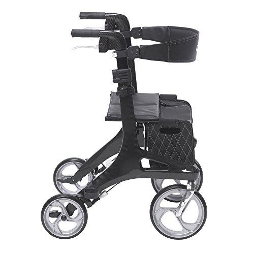 Drive Medical Nitro Elite Carbon Fiber Rollator Walker is a strong and light weight rollator walker
