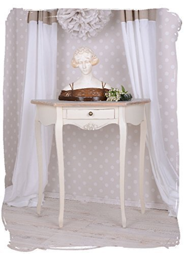 Antiker Konsolentisch, Beistelltisch, Telefontisch, Tischchen, Tisch in Villa-Vintage-Art, aus Holz in der Farbe Weiß, einzigartig schönes Möbelstück - Palazzo Exclusive