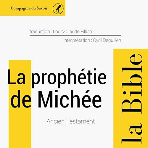 Couverture de La prophétie de Michée
