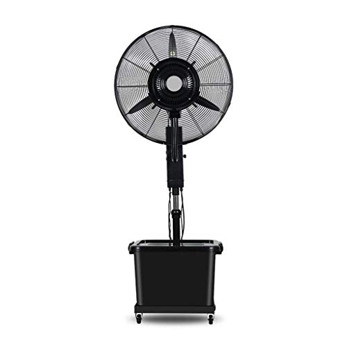 Best Prices! KMMK Home Electric Fan,Pedestal Fans Floor Fan Swing Spray Add Water Mute Factory Black Adjustment 3 Speed Adjustment Continuous Work 10 Hours Heating & Cooling,0.7M