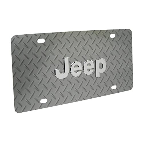 Jeep Diamond Plate Steel License Plate