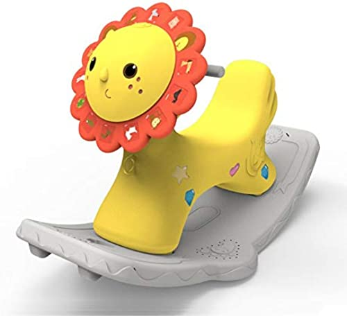 Rocking Horse Nattou Schaukeltiere,Baby Schaukelpferd Plastic Music Rocker Für 1-6 Jahre Altes Kind Little Lion Animal Rocker