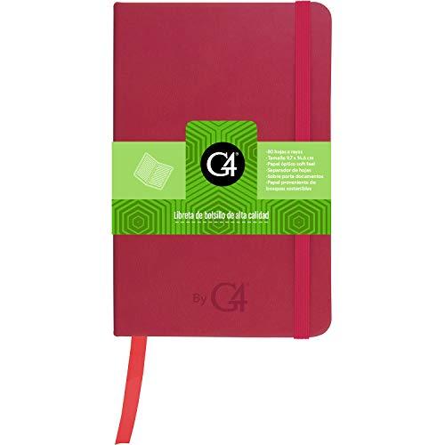 Libreta Skin de bolsillo   Cuaderno clásico pasta dura 80 hojas papel óptico silky. Color rosa