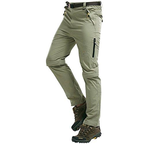 Walk-Leader Pantalon d'extérieur convertible pour homme Escalade, randonnée Séchage rapide - marron - XX-Large