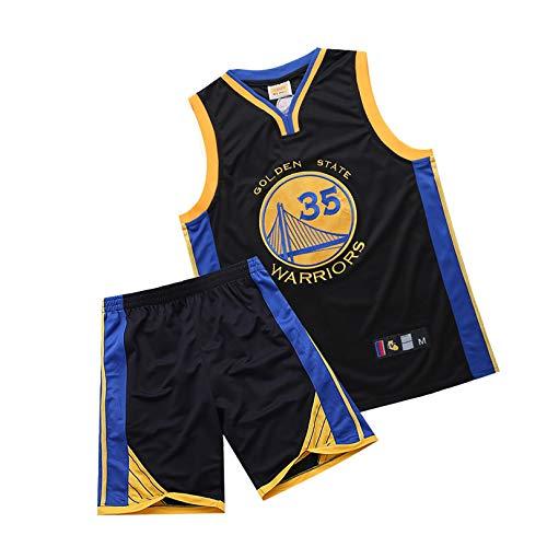 YENDZ Warriors No. 35 Durant, Camiseta de Baloncesto para Hombre, Traje Deportivo Transpirable para fanáticos 3XL Black