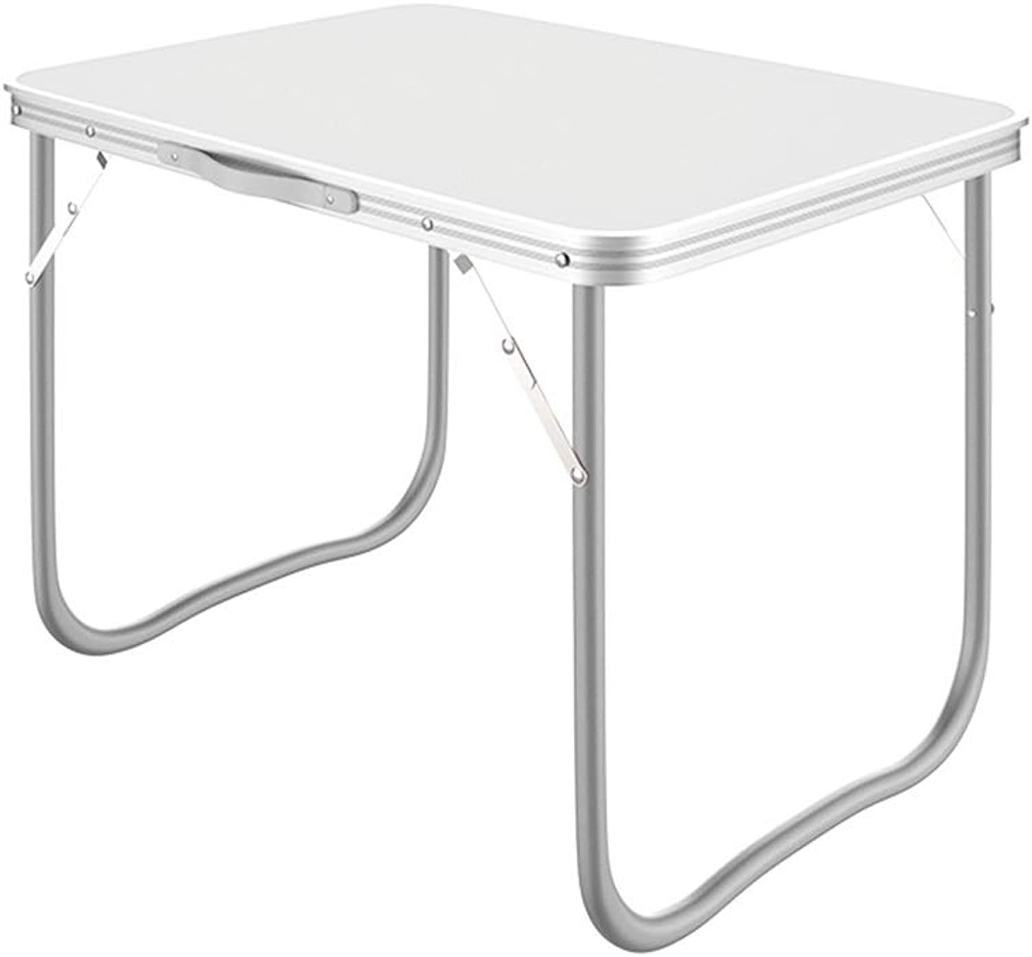 ZZHF zhuozi Folding Table, Dining Table, Portable Table, Writing Desk, with A Cloth Stool Suitable for Home Simple Table (White) 80  60cm 31.5 x23.6