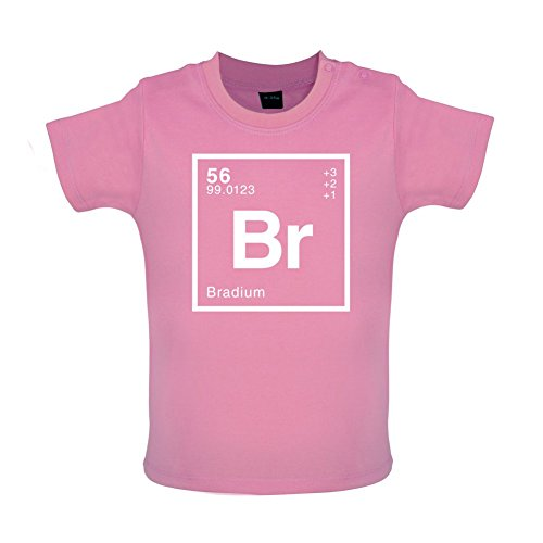 BRAD - Periodic Element - Baby / Toddler T-Shirt - Bubble Gum Pink - 3-6 Months