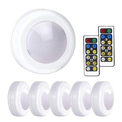 AomeEG Led-nachtlampje, kastverlichting met afstandsbediening, werkt op batterijen, voor keuken en hal.