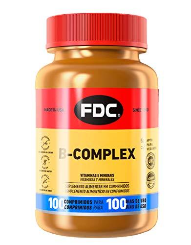 Complejo de Vitamina B para Aumentar la Energía y Mejorar el Sistema Inmunológico, 100 Cápsulas de FDC