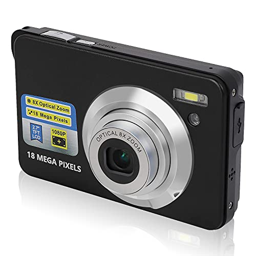 Digital Camera,8X Optical Zoom Camera,24MP 2.7 Inch Mini Camera for Backpacking, Compact HD Cameras for Photography Students Cameras for Adult/Seniors/Kids