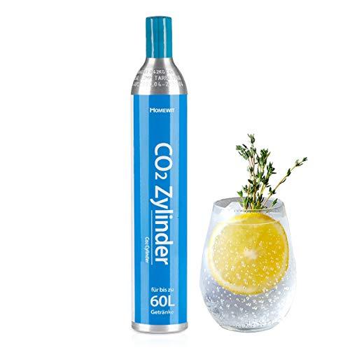 Homewit CO2 Zylinder, 425g Kohlendioxid für ca. 60 L Wasser, Neu & Erstbefüllt in Deutschland, geeignet für SodaStream Wassersprudler (z.B. Crystal 2.0, Crystal, Easy) usw, TÜV bis 2030