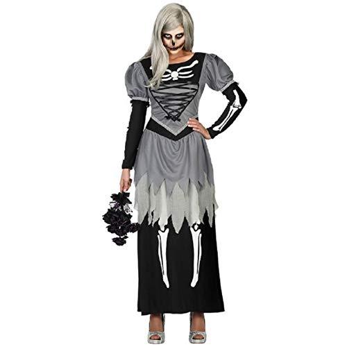 ATOSA disfraz novia zombie esqueleto mujer adulto XL