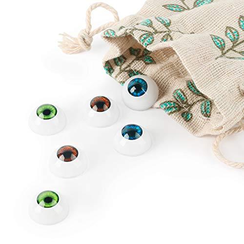 Vollence 3 Paia di 3 Colori ovali per bulbi oculari per Bambole Hollow Acrilico per bulbi oculari per Fai da Te per Bambola Piena del Silicone del Bambino