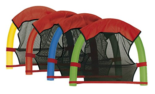 Schwimmnudel 160x7 cm aus PU-Schaum Pool-Noodle Schwimm-Noodle zum Schwimmen Planschen (Wassersitz + Nudel)