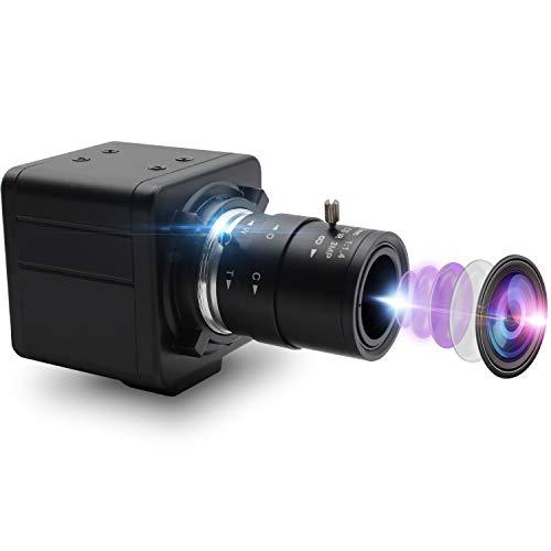 Mermaid 8 Magepixel USB-Kamera 2,8-12 mm Varioobjektiv Webcam HD 3264X2448 USB mit Kamera 8MP Webkamera mit IMX179 Bildsensor Mini-Industriekamera Außen-Innen-Webkameras Plug & Play, UVC OTG 2.0