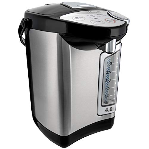 Rosewill Electric Hot Water Boiler and Warmer, 4.0 Liter Hot Water Dispenser, Stainless Steel / Black RHAP-16002