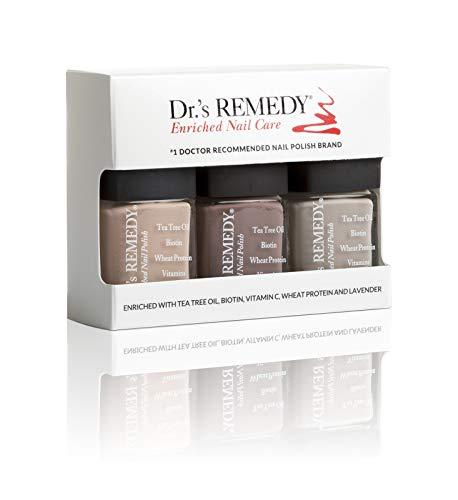 Dr.s Remedy All Natural Vegan Nail Polish NAMASTE NEUTRAL Organic Non Toxic 3 Piece Quick Dry Long Lasting - COZY Caf