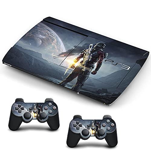 VINILOL Vinilo Mass Effect para Playstation 3 Super Slim pegatina cubierta skin para consola y 2 mandos