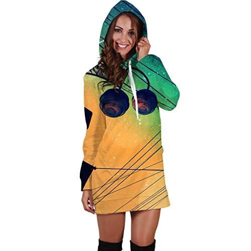 Preisvergleich Produktbild Unknow Damen Kapuzenpullover 3D Anime Allover-Print Leichtgewichtiger Pullover mit Kapuze Sweatshirt mit Kapuze Rock Pullover für Mädchen XS - 4XL
