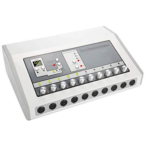 Yangyang TENS EMS Electroestimulador Eléctrico Adelgazar Belleza Productos Legumbres Masaje para Muscular Relajarse Dolor Alivio Pecho Masajeador Nerver Estimulador Acupuntura Terapia Cara Levantar