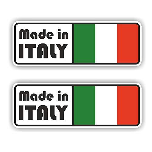 folien-zentrum 2 x Made in Italy Pegatinas Shocker Mano Auto JDM Tuning Dub Decal Stickerbomb Bombing Sticker Illest Dapper Fun Oldschool
