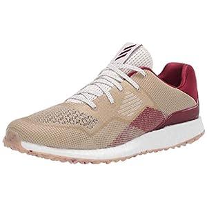 adidas Men's Crossknit DPR Golf Shoe, Chalk White/Collegiate Burgundy/Alumina, 10 Medium US