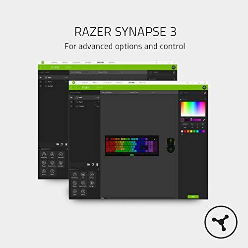 Razer BlackWidow Lite Mercury (Orange Switch) - Kompakte Gaming Tastatur mit mechanischen Schaltern (Taktil & leise, Unterlegscheiben, für das Büro geeignet) QWERTY   US-Layout, Weiß