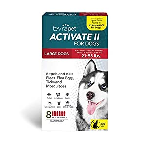 TevraPet Activate II Flea and Tick Prevention for Dogs – 8 Months Topical Flea and Tick Treatment and Control (Large)