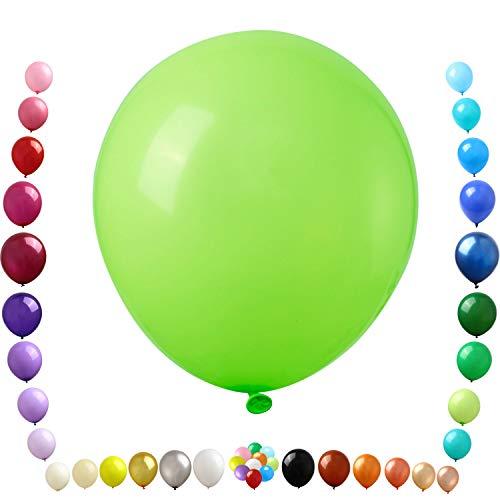 Party Ulyja Lime Green Balloon Kids' Party 50 Pack Bulk 12 Inch Shiny Latex Balloon Helium Quality for Birthday Wedding Jungle Dinosaur Safari Themed Arch's DIY Decorations Supplies