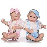ZXYMUU Twin Save Save Reborn Baby Muñecas Mini Muñeca Linda Hecho A Mano Realista Realista Silicona ...