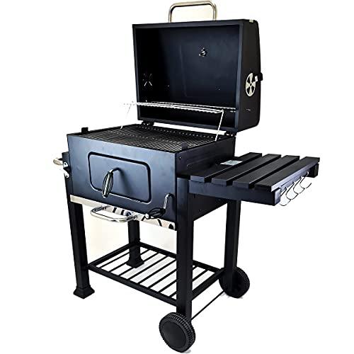 Bbq barbecue a carbone carbonella grill per giardino da esterno grigliata griglia campeggio cottura cavatappi ventole aria (XL)